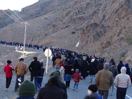پیاده روی خانوادگی در بیرجند برگزار شد