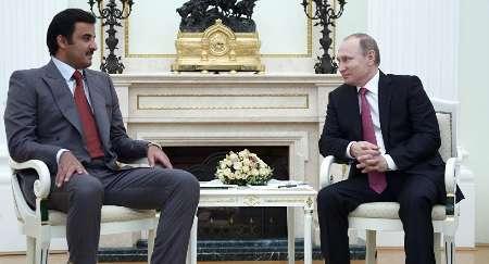 رییس جمهوری روسیه و امیر قطر در مورد سوریه تلفنی مذاکره کردند