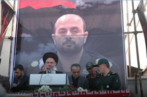 مراسم تشییع پیکر فرمانده اطلاعات سپاه بوشهر