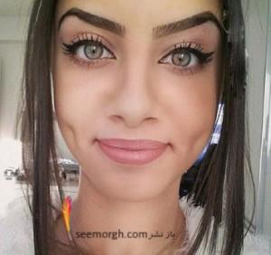 چشم های جذاب و بی نظیر دختر عرب سوژه رسانه ها شد! عکس