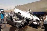 تصادف زنجیره ای در محور بیرجند - آرین شهر دو کشته و شش زخمی برجای گذاشت
