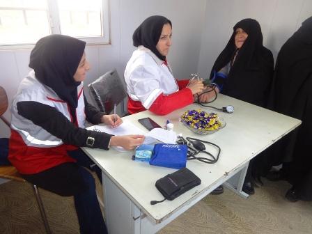 گشایش نمایشگاه صنایع دستی خانه داوطلبان هلال احمر بستان آباد