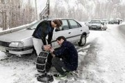 رانندگان در محورهای کوهستانی کردستان زنجیر چرخ همراه داشته باشند