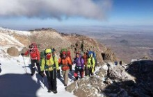 صعود کوهنوردان آستارایی به قله تفتان