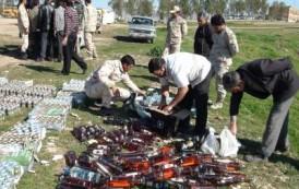 معدوم سازی بیش از سه هزار قوطی مشروبات الکلی در قصرشیرین