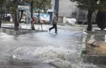 بارش شدید باران در ایلام باعث آبگرفتگی معابر شد