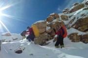 500 کوهنورد به قله آق داغ بجنورد صعود کردند