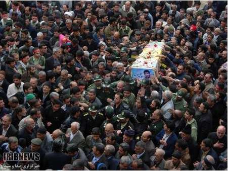تشییع پیکر شهید دفاع مقدس در سبزوار