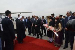 شلیک 21 گلوله توپ به افتخار ورود روحانی به پاکستان
