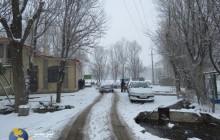 برف و کولاک نیر(اردبیل) را فرا گرفت+تصاویر