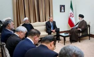 آقای «نورسلطان نظربایف» رئیس جمهور قزاقستان و هیأت همراه، عصر امروز (دوشنبه) با حضرت آیتالله خامنهای رهبر انقلاب اسلامی دیدار کردند.