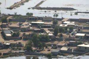 4روستای شوش همچنان در محاصره سیلاب
