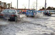 بارش شدید باران و تگرگ در تبریز و آبگرفتگی معابر