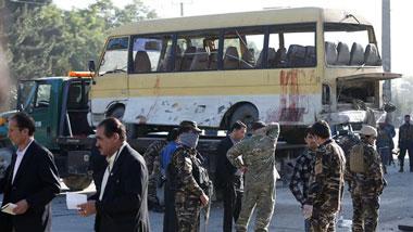 انفجار مینیبوس در کابل با ۱۴ کشته