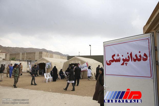 بیمارستان صحرایی در منطقه محروم گمیشان افتتاح شد