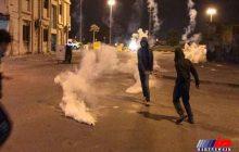 سرکوب تظاهرات شهروندان بحرینی از سوی نیروهای امنیتی آل خلیفه