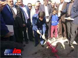 عملیات اجرایی شبکه جمع آوری فاضلاب خانگی منطقه کوی آل صافی اهواز با حضور استاندار خوزستان آغاز شد