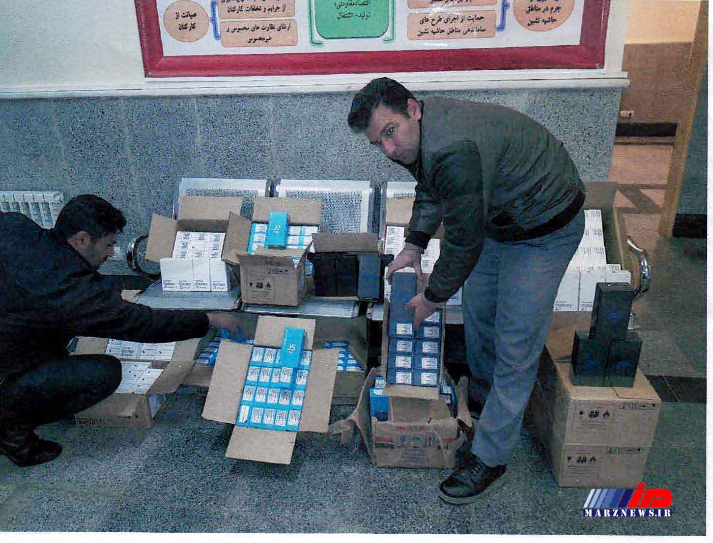 کشف محموله قاچاق تلفن همراه در کرمانشاه