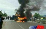 6 نفر در جاده تبریز- اهر زنده در آتش سوختند