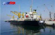 تخلیه دومین کشتی کره جنوبی حامل ۵۵۰۰ تن آهن آلات در بندر چابهار