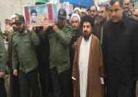 تشییع پیکر شهید تازه تفحص شده