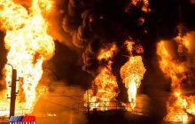 خسارت یک میلیارد تومانی آتشسوزی مخزن کارخانه قیر در غرب بندرعباس