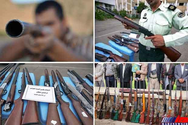 ۸۲ قبضه اسلحه غیر مجاز در خوزستان کشف شد