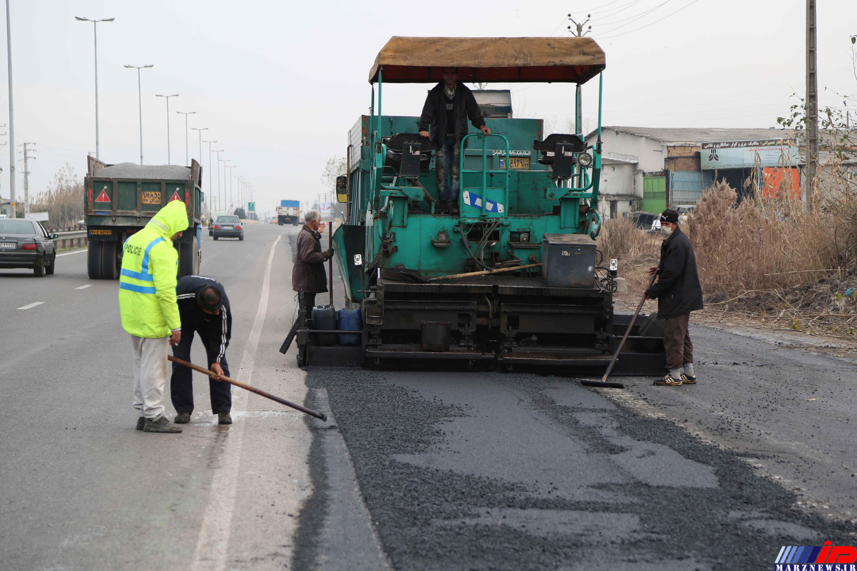 155کیلومتر از جاده های مازندران روکش آسفالت شدند
