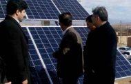 افتتاح نخستین نیروگاه مولد برق خورشیدی خانگی خراسان شمالی در اسفراین