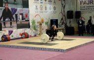 دو دختر نونهال اردبیلی در مسابقه مردان وزنه زدند