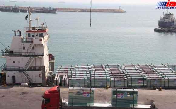 صادرات 1302 تن شیشه ساختمانی از بندرلنگه به قطر