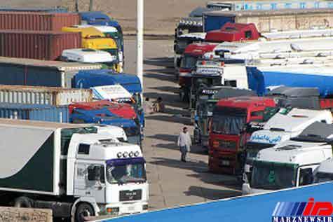 صف 7 روزه کامیونهای ایرانی در مرز دوغارون