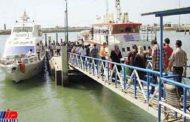 ورود ۷۰ درصد مسافران کشور از بندر چارک به جزیره کیش
