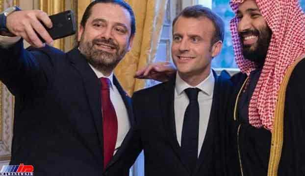 سلفی سعد حریری با ماکرون و بن سلمان در حاشیه سفر ولیعهد عربستان به فرانسه