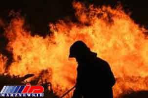 آتشسوزی گسترده در منطقه مرزی خرمشهر