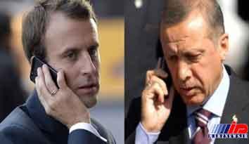گفتگوی تلفنی اردوغان و ماکرون درباره سوریه