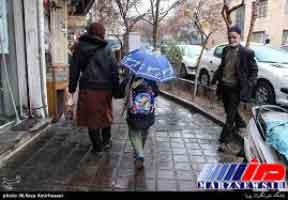 ادامه بارش برف و باران در ایران تا روز سه شنبه