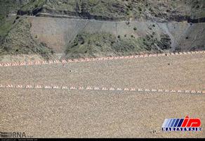 کاهش آب سد آزاد «بنیر» در کردستان (عکس)