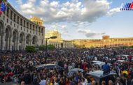 تجمع مخالفان دولت ارمنستان در ایروان