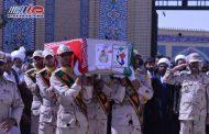 آئین تشییع پیکر شهید علی رضا دهمرده برگزار شد