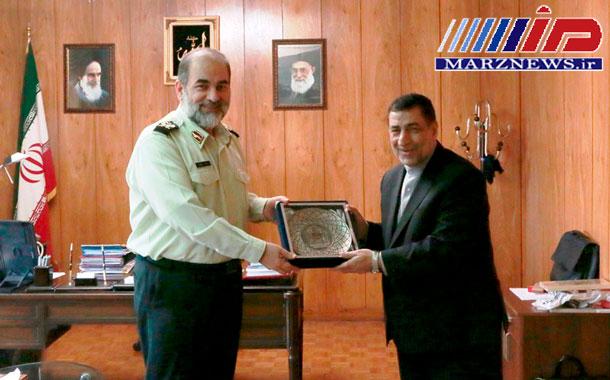 دیدار رئیس پلیس بین الملل ناجا با وزیر دادگستری