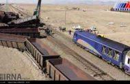 خروج قطار باری مجتمع فولاد نیشابور از ریل خسارت نداشت