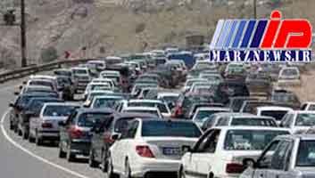 ترافیک پرحجم در مسیر مشهد