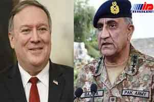 فرمانده ارتش پاکستان و وزیر خارجه آمریکا گفت وگو کردند