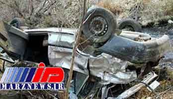 یک کشته در سقوط پراید به دره در سنندج
