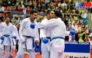 اهتزاز پرچم کاراته ایران بر فراز قله جهانی