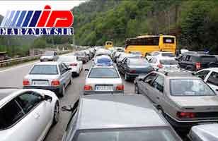 ترافیک سنگین در جادههای مازندران