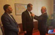 سرکنسول ایران در نخجوان «مدال افتخار خدمت» دریافت کرد