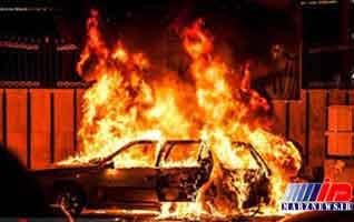 34 خودرو در گناوه سوخت