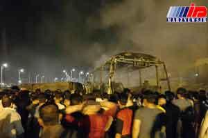 تصادف تانکر سوخت با اتوبوس در سنندج 11 کشته بر جا گذاشت